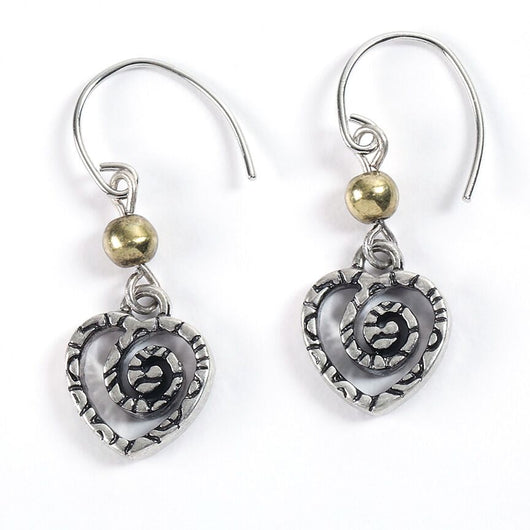Etched Heart Earrings - Trust Your Journey