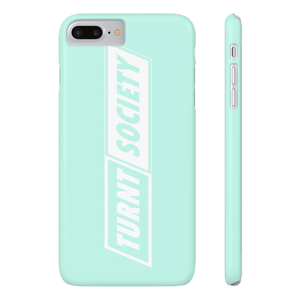 "Mint ""TURNT SOCIETY"" Slim Matte Phone Cases"