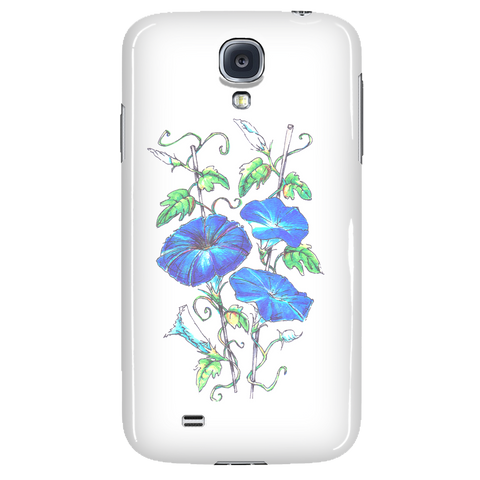Asagao (Morning Glory Flower) by YOSHINO - Phone Cases
