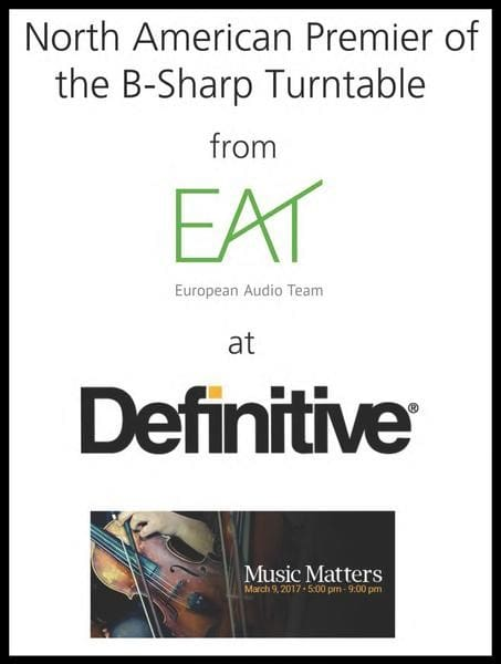 The North American Premier Of The New B-Sharp @ Definitive Audio Seattle March 9Th!