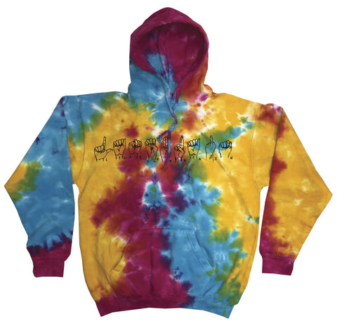 Sign Language Acid Trip Hoodie - lamebrain skateboards