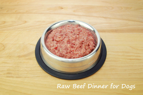 Raw Beef Dinner for Dogs 5LB