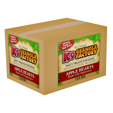 K9 Granola Factory Mini Low Fat Apple Hearts, 13-lb bulk