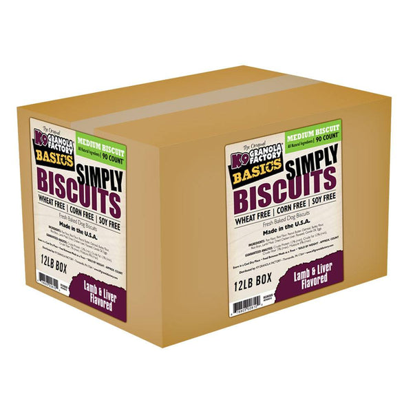 K9 Granola Factory Simply Biscuits Lamb & Liver, Medium, 12-lb box