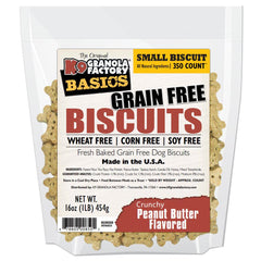 K9 Granola Factory Grain Free Simply Biscuits Crunchy Peanut Butter, Small, 16-oz bag