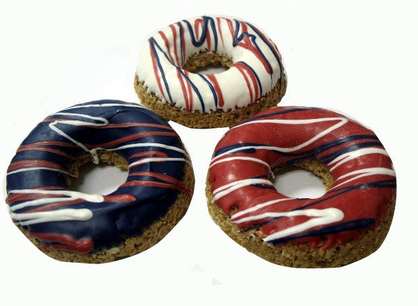 Patriotic Dog Donut