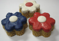 Patriotic Granola Flowers