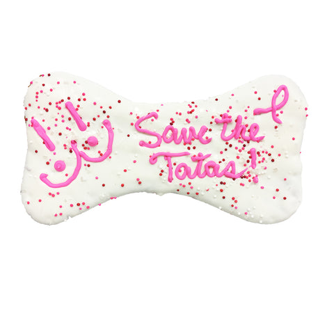 SAVE THE TATAS! DOG BONE COOKIE
