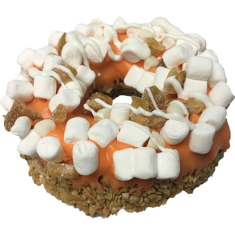 Gourmet Granola Donut Orange Creamsicle Dog Treat
