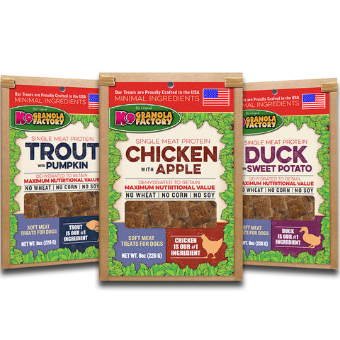 Chicken with Apple Dehydrated, Soft Meat Treat for Dogs 8oz