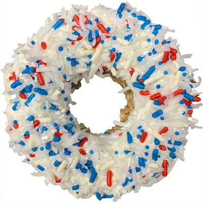 K9 Granola Factory Gourmet Donut Dog Treat, Coconut Sparkler