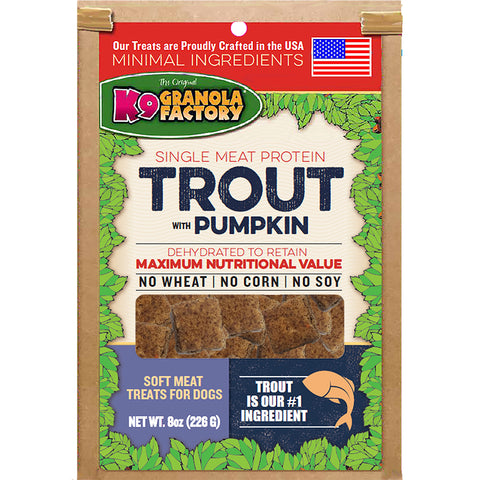 Trout with Pumpkin Dehydrated, Soft Meat Treat for Dogs 8oz