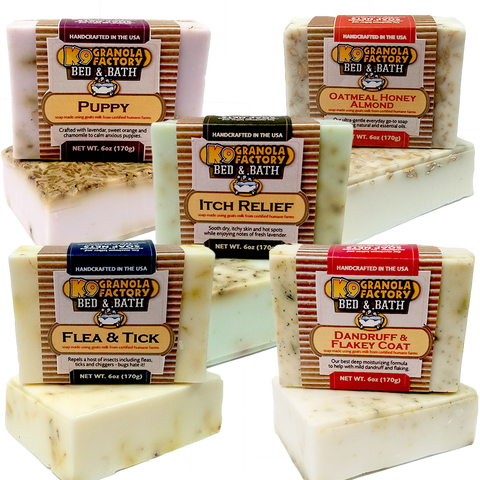 Oatmeal Honey Almond Goats Milk Soap for Dogs 6oz