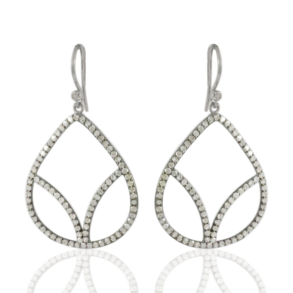 DIAMOND Drop Filigree Earrings