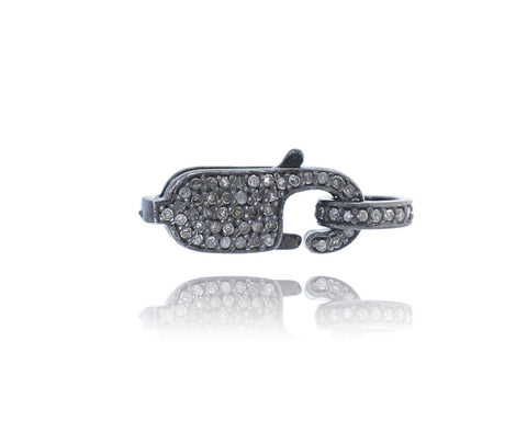 Pave Diamond and silver Clasps