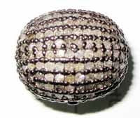 Diamond Oval Pave Beads