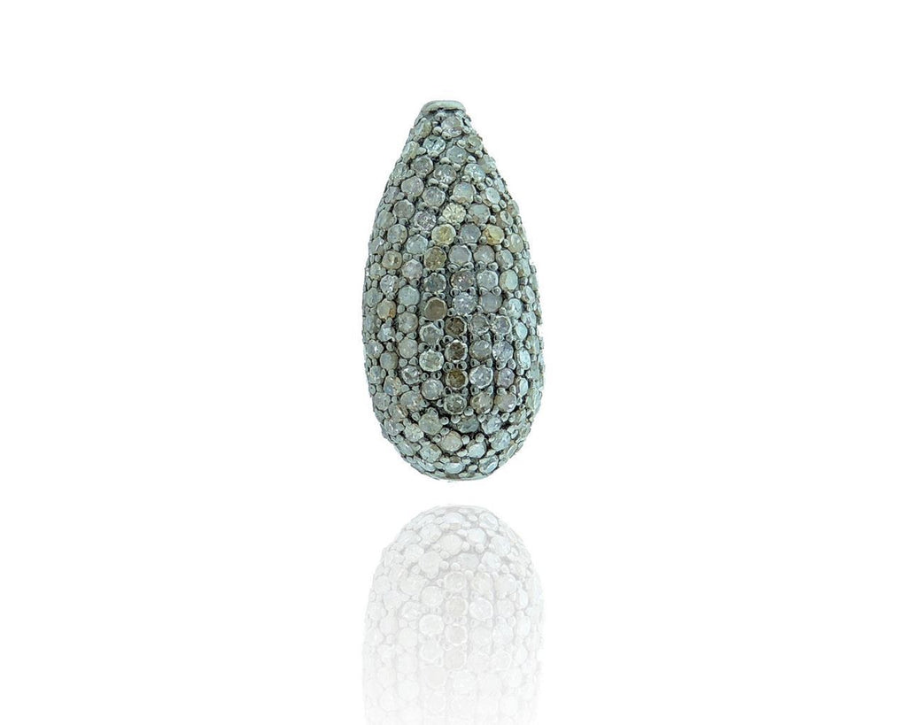 Drop Shape Pave Diamond Beads