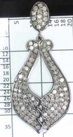 Diamond and Silver Earrings