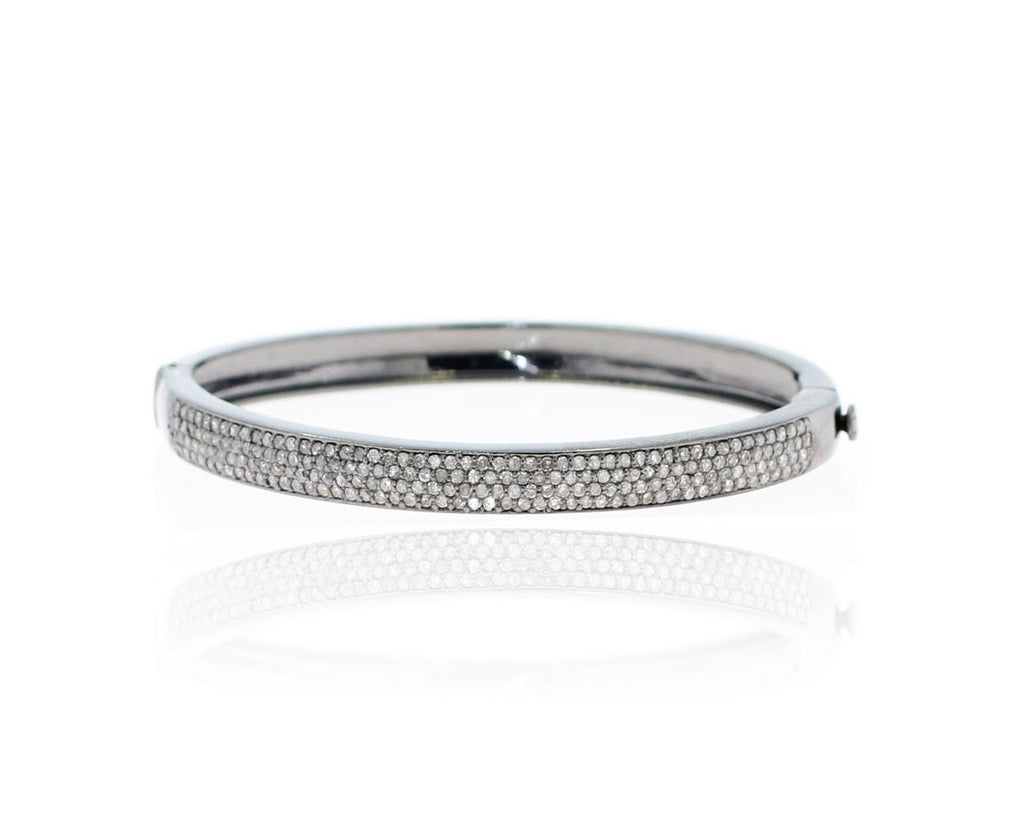 Silver and Diamond Pave  BRACELETS, BANGLES & CUFFS