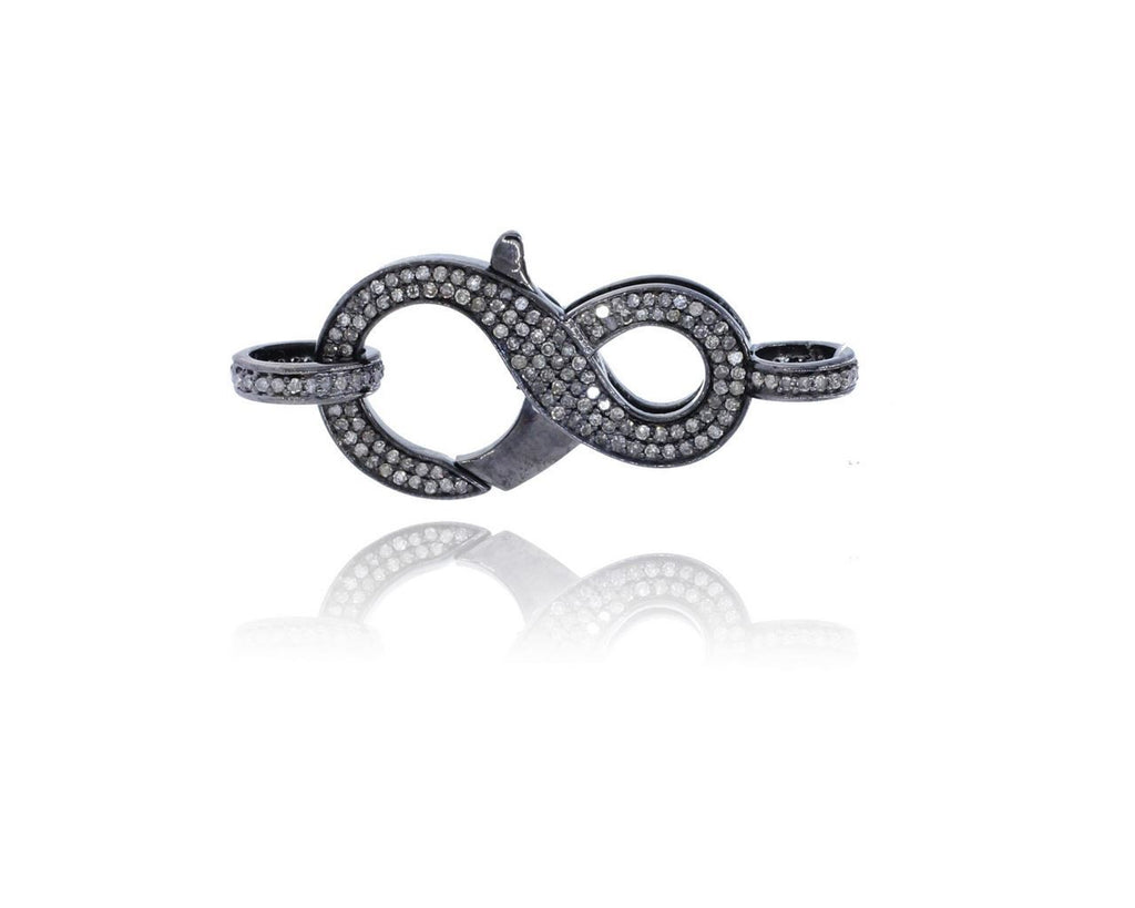 Silver and Diamond Pave  Clasps