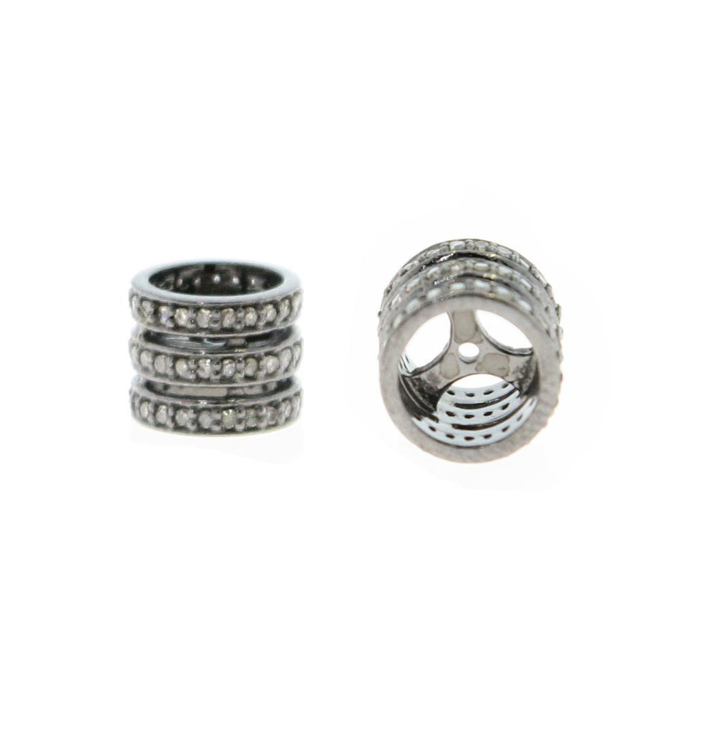 Silver and Diamond Pave  Rings