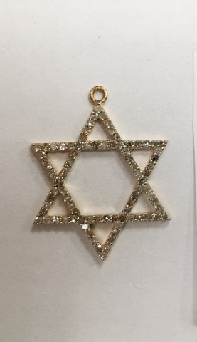 "14k Gold Star Diamond Pendants. Genuine handmade pave diamond Pendant. Approx Size 0.80 ""(20 x 20 mm)"