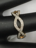 "14k Solid Gold Diamond Rings. Genuine handmade pave diamond Rings. Approx Size 0.80 ""(20 x 6 mm)"
