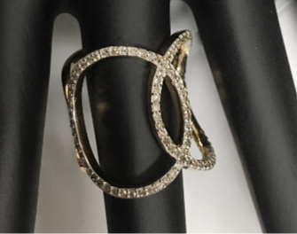 "14k Solid Gold Diamond Rings. Genuine handmade pave diamond Rings. Approx Size 0.84 ""(21 x 21 mm)"