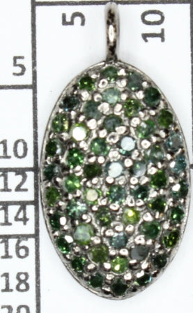 Oval Shape Pave Diamond Pendant