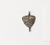 Pave Diamond Charm .925 Oxidized Sterling Silver Diamond Charms, Genuine handmade pave diamond Charm Size 12x20 MM
