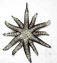 Star Burst Diamond Pendants & Charms