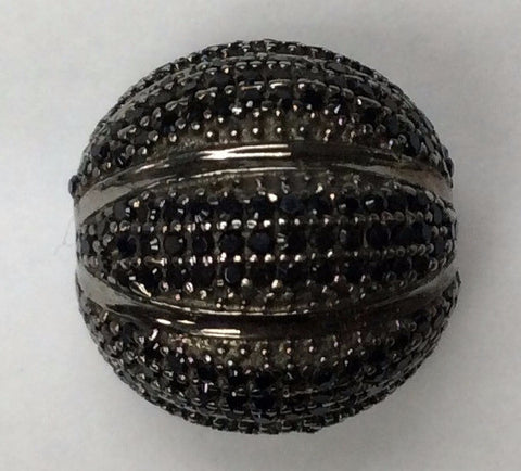 Ball Black Spinel Bead