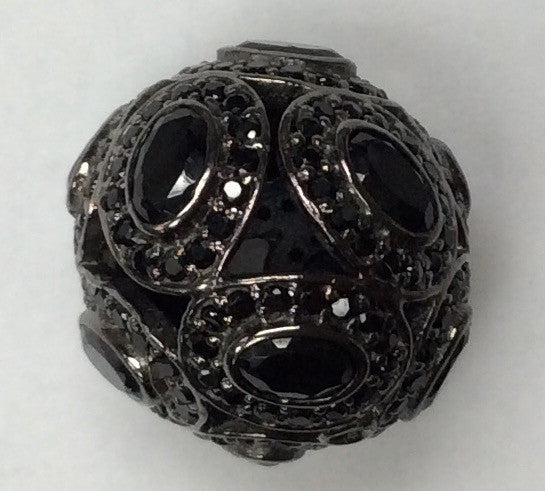 Round Shaped Black Spinel Bead