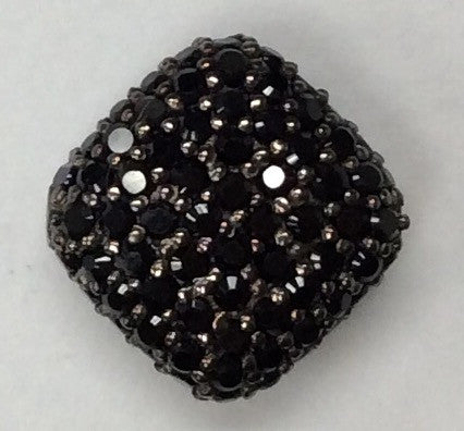 Rectangle Shaped Black Spinel Bead