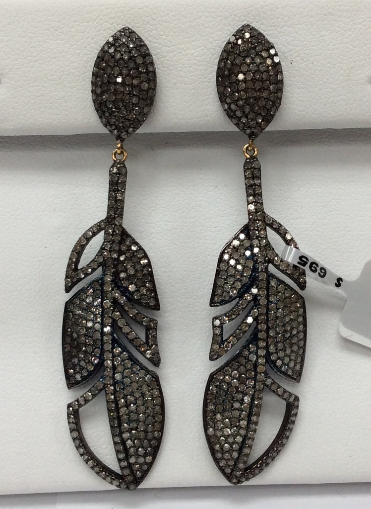 Leaf Earring Diamond