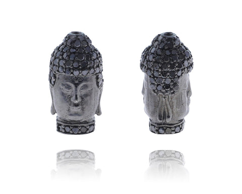 Buddha Silver and Diamond Pave