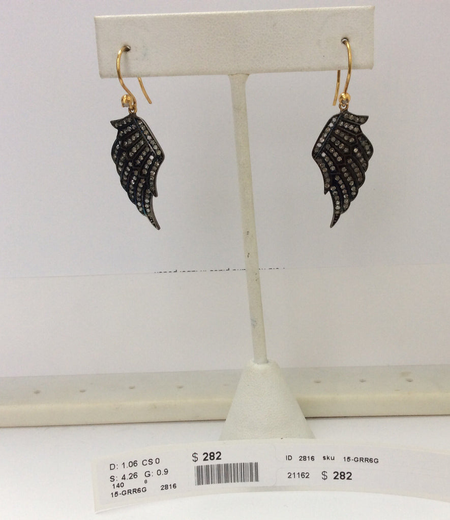 Angel Wings Diamond Silver Earring