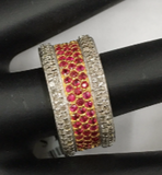 "14k Solid Gold Diamond Rings. Genuine handmade pave diamond Rings. Approx Size 0.40 ""(10 mm)"