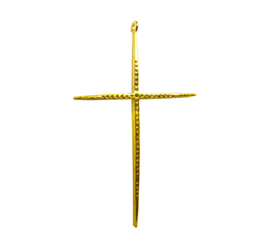 "14K Solid Gold Cross Diamond Pendants. Genuine handmade pave diamond Pendant. Approx Size 2.32 ""(35 x 58 mm)"