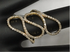"14k Solid Gold Diamond Rings. Genuine handmade pave diamond Rings. Approx Size 1.20 ""(15 x 30 mm)"
