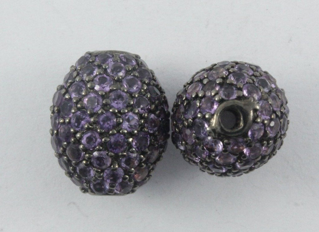 Oval Shape Pave Beads