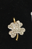 "14k Solid Gold Flower Diamond Pendants. Genuine handmade pave diamond Pendant. Approx Size 0.56 ""(11 x 14 mm)"