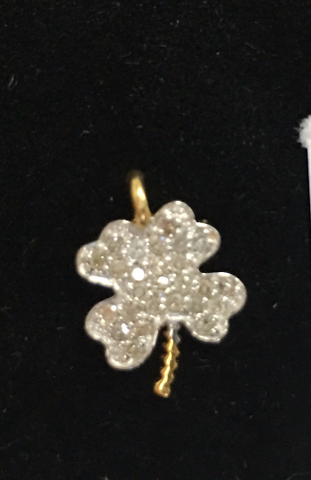"14k Gold Flower Diamond Pendants. Genuine handmade pave diamond Pendant. Approx Size 0.56 ""(11 x 14 mm)"