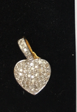 "14k Solid Gold Heart Diamond Pendants. Approx Size 0.72 ""(11 x 18 mm)"