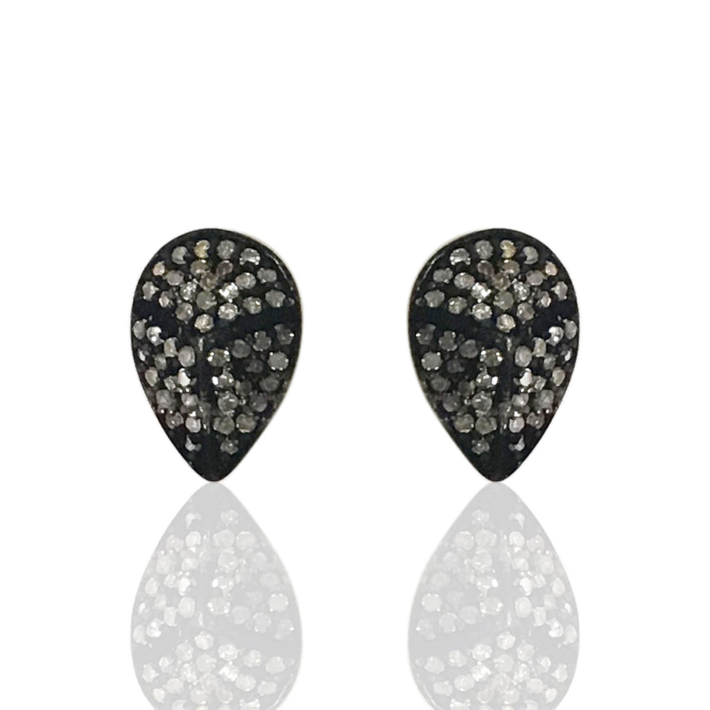 Drop Shape Diamond Earring Stud