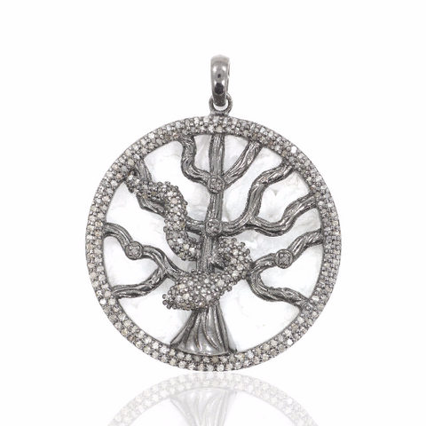 Pave Diamond Detail on Cross Charms, Gorgeous Oval Pendant.