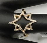 14k Solid Gold Diamond Rings. Genuine handmade pave diamond Rings.