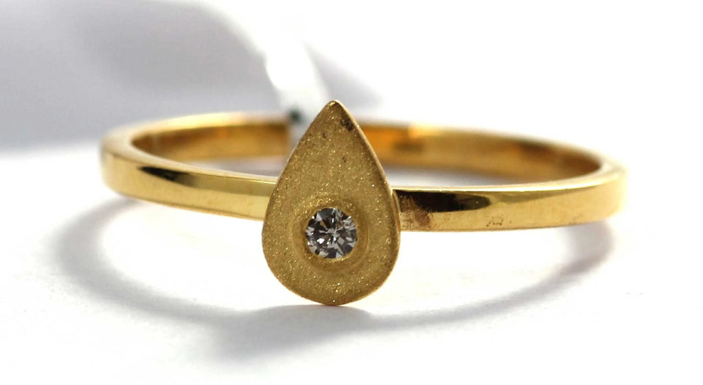 14k Solid Gold Drop Diamond Rings. Genuine handmade pave diamond Rings. 14k Solid Pave Diamond Ring.