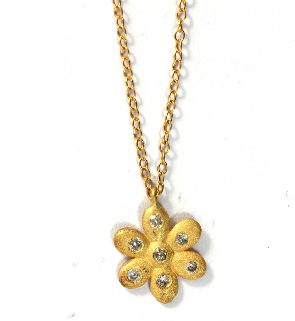 Flower Diamond Pendants. Genuine handmade pave diamond Pendant