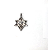 Pave Diamond Charm .925 Oxidized Sterling Silver Diamond Charms, Genuine handmade pave diamond Charm Size 20 x 15 MM